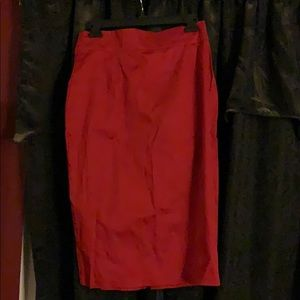 Pinup Couture NWT Red Wiggle Skirt L